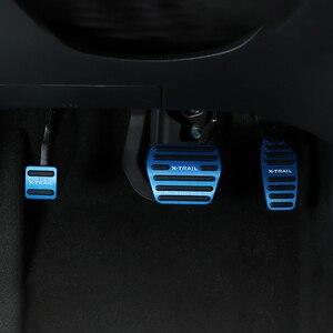 Image 2 - 알루미늄 합금 자동차 발 연료 페달 가속기 브레이크 페달 패드 커버 AT 닛산 X 트레일 X 트레일 T32 2014 2019 액세서리