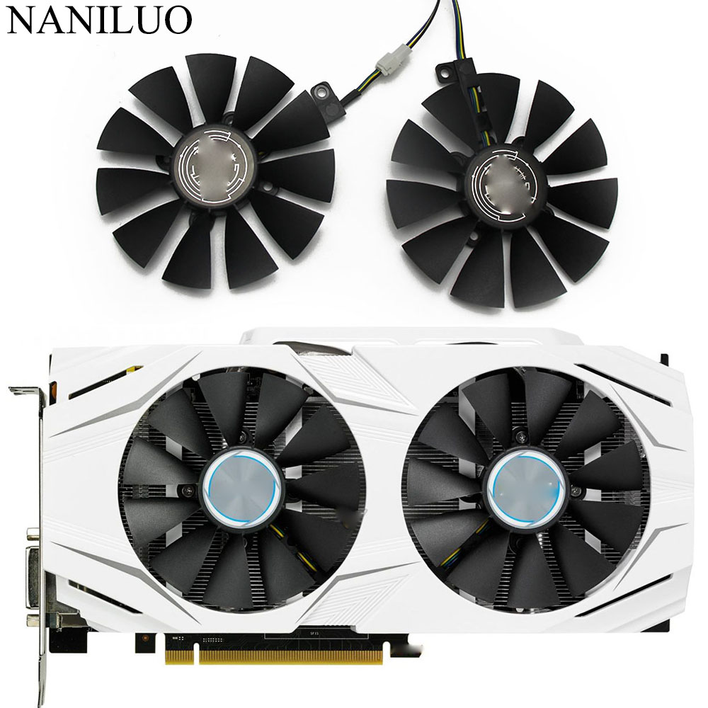 87MM GTX1060 GTX1070 RX480 Cooler Fan For ASUS GTX 1060 1070 RX 480 Graphics Card  T129215SU PLD09210S12HH 28mm Cooling Fans-in Fans & Cooling from Computer & Office