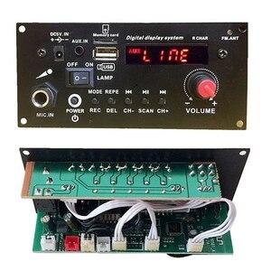 Image 2 - DIY רמקול 3.7V ליתיום סוללה דיגיטלי Bluetooth מונו מגבר לוח מיקרופון קריוקי מגברי AUX TF USB FM הקלטה