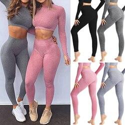 Seamless Leggings Bubble Butt Sport Women Fitness Gym Push Up High Waist Leggings Workout Anti Cellulite Compression Legging