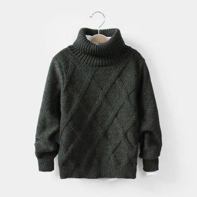 3-12yrs детская зимняя одежда вязаные свитера с высоким, плотно облегающим шею воротником пуловеры Теплые брюки для мальчиков и девочек; Вязан...