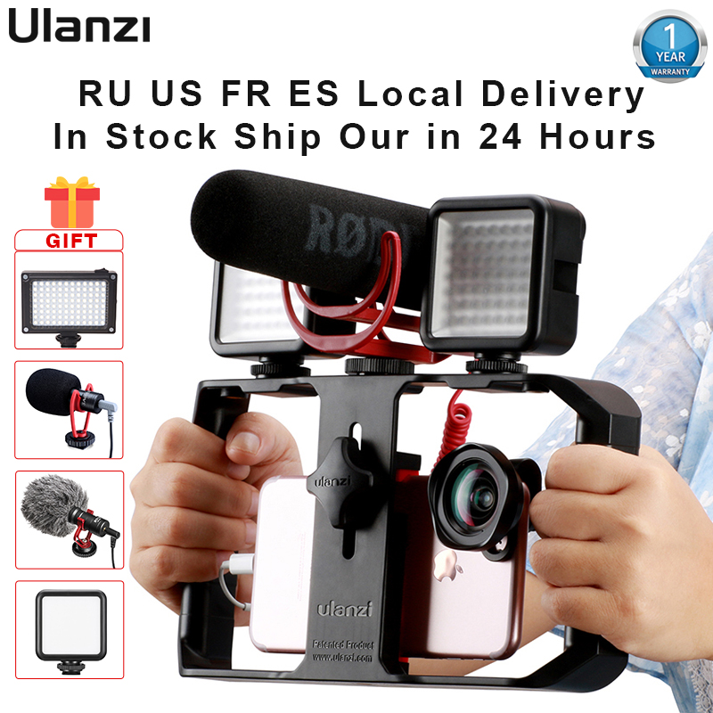 Ulanzi U Rig Pro Smartphone Video Rig Grip Filmmaking Case Phone Video Stabilizer Grip Tripod Mount for iPhone Android video rig rig videohandheld camera rig - AliExpress