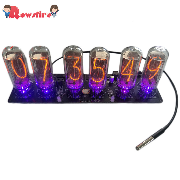 Retro IN-18 Glow Tube Clock VFD Clock DIY Clock Kit (Only Circuit Board, No Pipe And Shell)