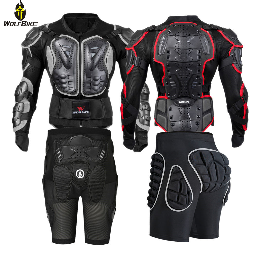 Wolfbike Snowboard Jackets Men Back Support Body Clothing Brace Motocross Motorcycle Cycling Protective Gear Ski Suits Armor