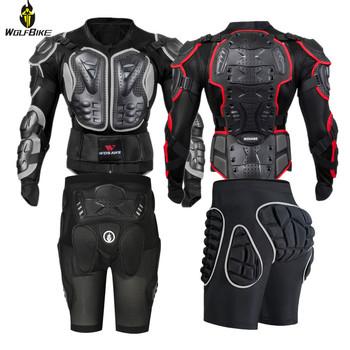 Wolfbike kurtki snowboardowe mężczyźni podparcie pleców odzież ciała Brace Motocross motocykl kolarstwo ochronny sprzęt narciarski pancerz tanie i dobre opinie NYLON O-neck Skiing Pasuje prawda na wymiar weź swój normalny rozmiar BC202 Anty-pilling Anti-shrink Przeciwzmarszczkowy
