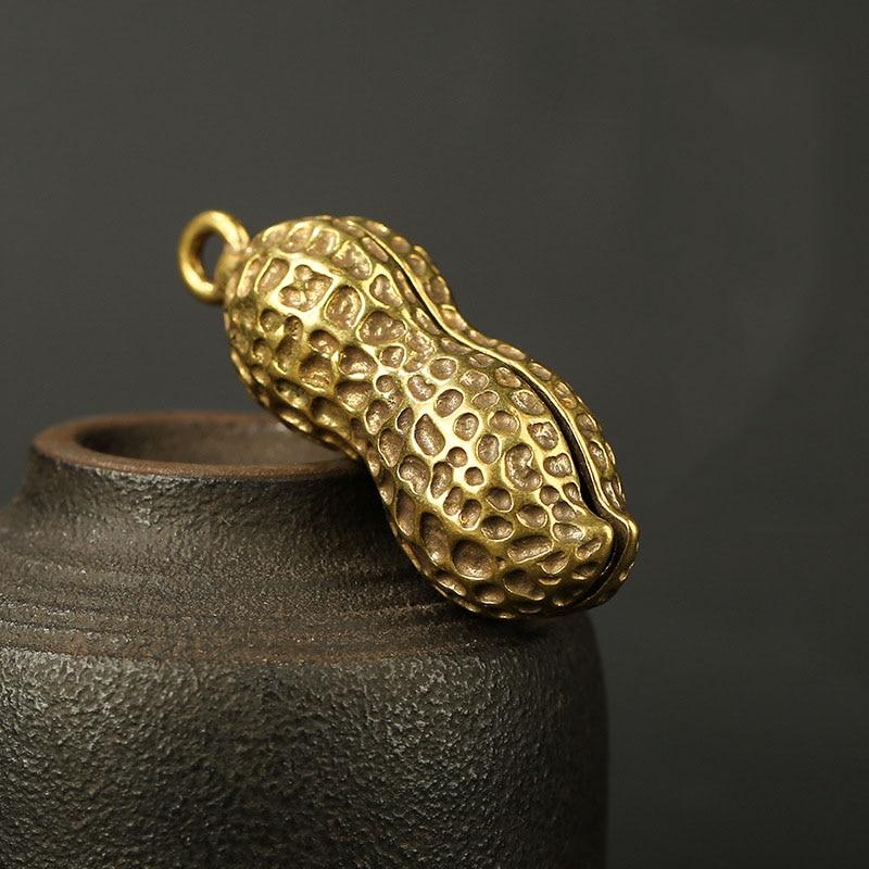 Peanut brass keychain pendant (5)