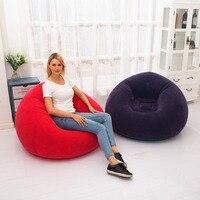 Große Aufblasbare Sofa Stuhl Sitzsack Beflockung PVC Garten Lounge Sitzsack Erwachsene Outdoor Möbel Camping Rucksack Reise auf