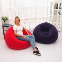 Large Inflatable Sofa Chair Bean Bag Flocking PVC Garden Lounge Beanbag Adult Outdoor Furniture Camping Backpacking Travel