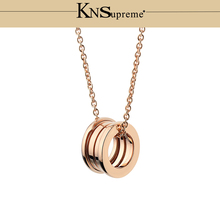 KN Bulgaria necklace 1:1 Original 925 Sterling Silver Women rose gold Jewelry High-end Quality Gift Have logo