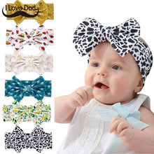 Hair-Accessories Headband Newborn Baby-Girl Lovely Elastic-Hair-Bands Printed-Bows Toddler