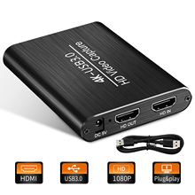 Live-Streaming 4K Video Capture Card HDMI-compatible Audio USB-3.0 Game Capture Card Loop-Out 1080P Xbox one PS4 Switch