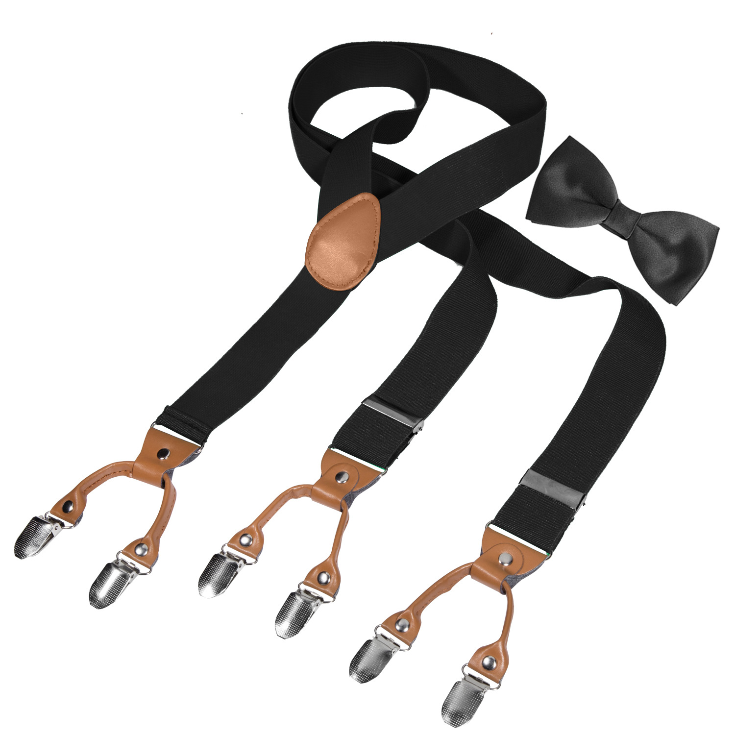 Cross Border Supply Of Goods For Both Men And Women 2 Clip Suspender Strap Work Casual Adult Monochrome Suspenders