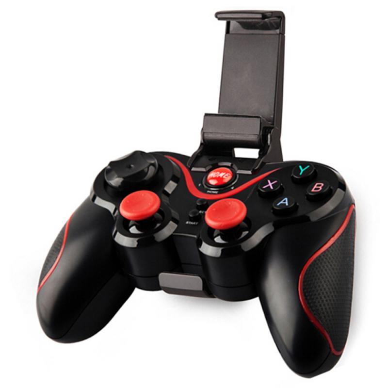 Wholesale S6 Wireless Joystick Gamepad Game Controller Bluetooth BT3.0 Joystick For Mobile Phone Tablet TV Box Holder