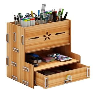 Image 1 - Creative fashion storage box desktop ornaments student office supplies pen barrel stationery storage pen container