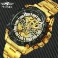Победитель официальные хип-хоп золотые автоматические часы мужские Алмазные ледяные скелетоны механические часы брендовые Роскошные Панк...