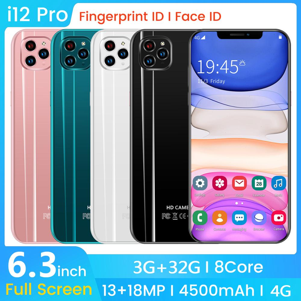 SAILF i12 pro Android 9.0 Octa Core Mobile Phone 6.3' FHD+ 18MP Triple Camera 3G RAM 32GB ROM Smartphone 4G gsm Global unlocked image
