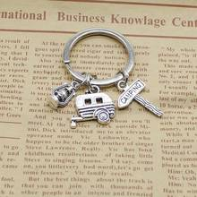 2019 Fashion Jewelry Mini Camping Lantern Happy Keychain, Kilt Pin, Road Sign, Handmade Car Silver Keychain 2019 1pc fashion jewelry mini keychain spider keychain spider web keychain silver dres s elegant diy handmade