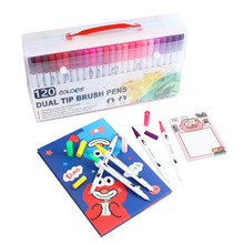 120 Color Watercolor Marker Brush Pens for Drawing Painting