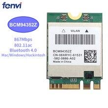 867Mbps אלחוטי AC1200 BCM94352Z 867Mbps BT 4.0 802.11ac NGFF M.2 WiFi WLAN כרטיס עבור מחשב נייד חלון Mac Hackintosh OS
