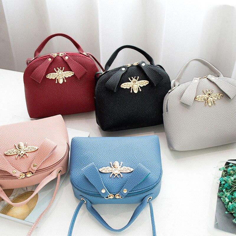 Mobile Phone Bag Shoulder Bag Cartoon Cute Little Bee Handbag Messager Crossbody Square Sling Bag Hobos Clutch