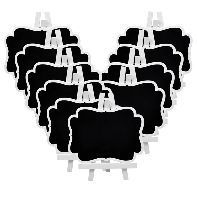 Set Of 10 Mini Chalkboard Small Blackboard For Catering Supplies Food Labels Par