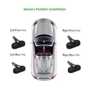 Image 5 - Eanop s600 solar tpms digital lcd sistema de monitoramento pressão dos pneus alarme pressão dos pneus sem fio 4pcs sensores psi/barra