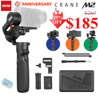 Zhiyun Crane-M2 Crane M2 3-Axis Handheld Gimbal Stabilizer Portable All in One for Mirrorless Cameras Smartphone Action Cameras
