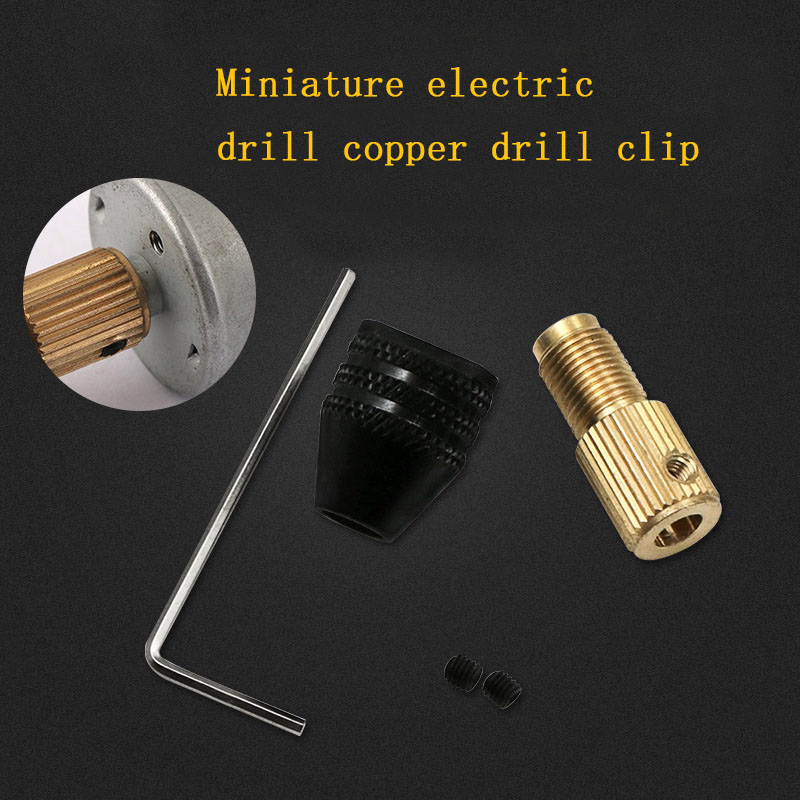 5mm Self-tightening Mini Drill Chucks Fit For Micro Twist Electronic Drill Collet Clamp Set Power Tool Accessories With Wrench
