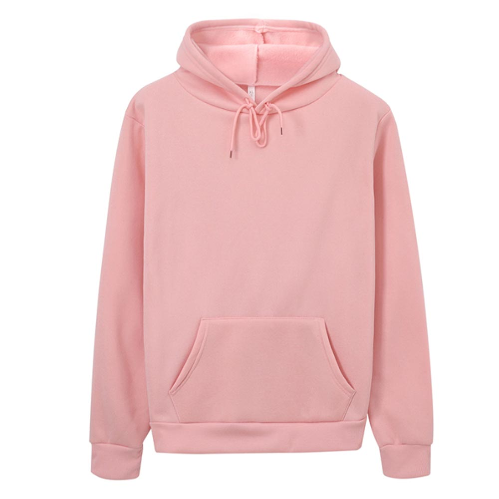 Hoodies Women Sweatshirt Casual Solid Colors Velvet Thickening Warm Tops 2020 Winter Long Sleeve Oversized Pullover With Pocket 4