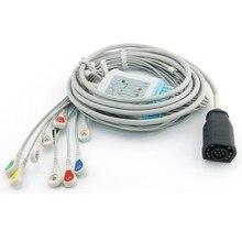 Zoll 1 Schritt Defibrillator Ekg-kabel 10 Leitungsdrähte Snap für E Serie und M Serie