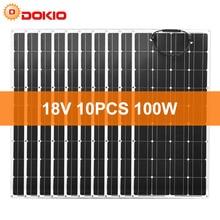 Dokio 12V 1000W גמיש פנל סולארי מונו פנל סולארי עבור מכונית/סירה/בית תשלום 16V/18V פנל סולארי עמיד למים סין