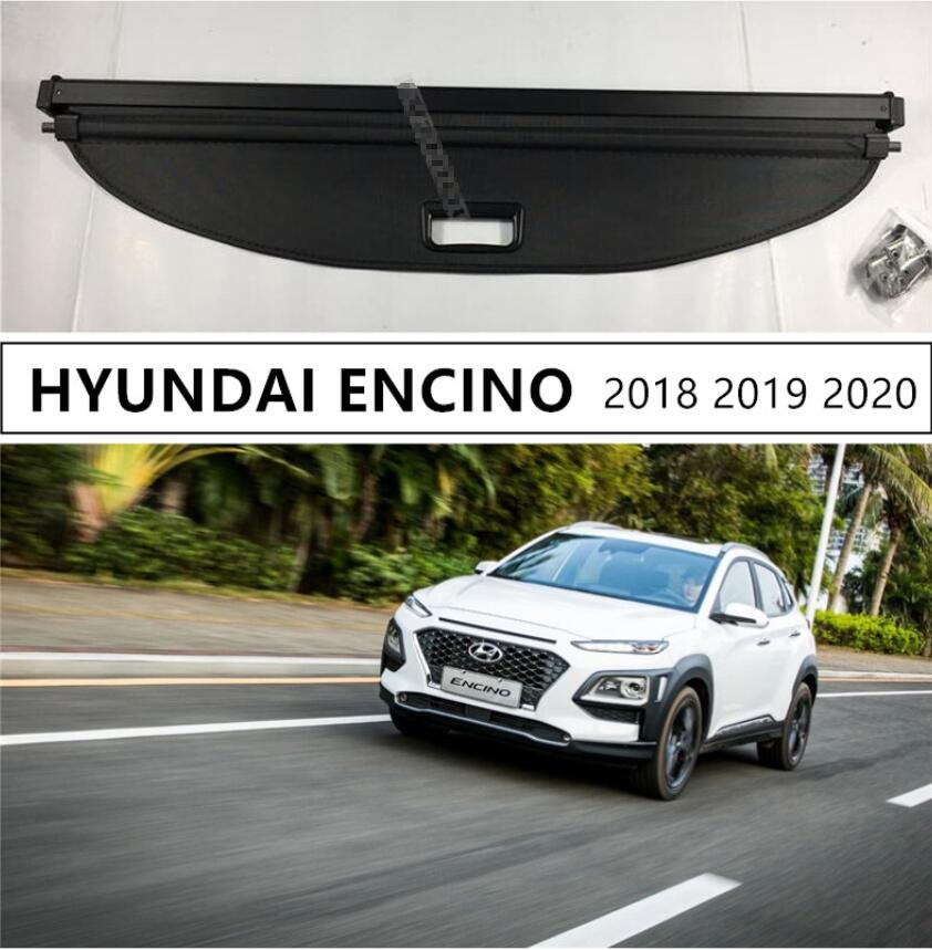 For HYUNDAI ENCINO 2018 2019 2020 Rear Trunk Cargo Cover Security Shield High Qualit Auto Accessories Black Beige