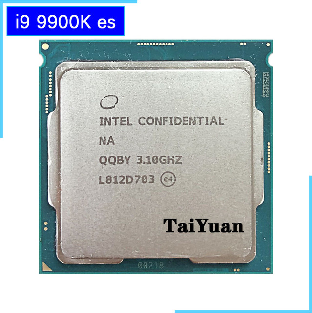 Intel Core i9 9900K es i9 9900K es QQBY 3.1 GHz Eight Core Sixteen Thread CPU Processor L2=2M L3=16M 95W LGA 1151