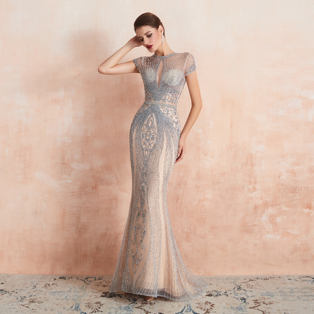 Silver Beaded Gowns