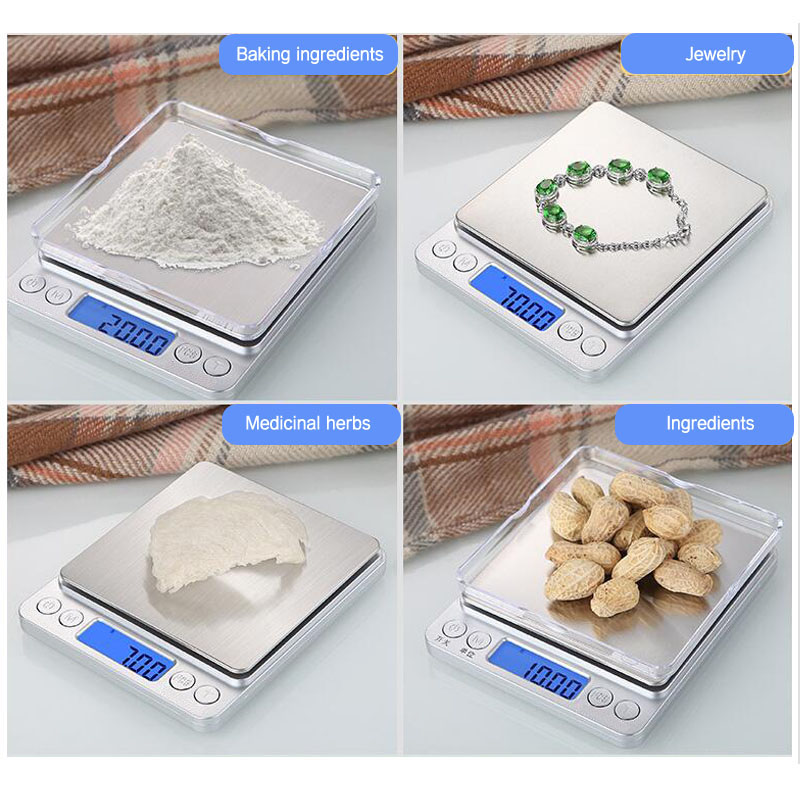 Image 5 - Digital gramera precision scales Mini Libra food kitchen scale Smart Electronic LED Digital Weight Balance scales bascula cocina-in Weighing Scales from Tools
