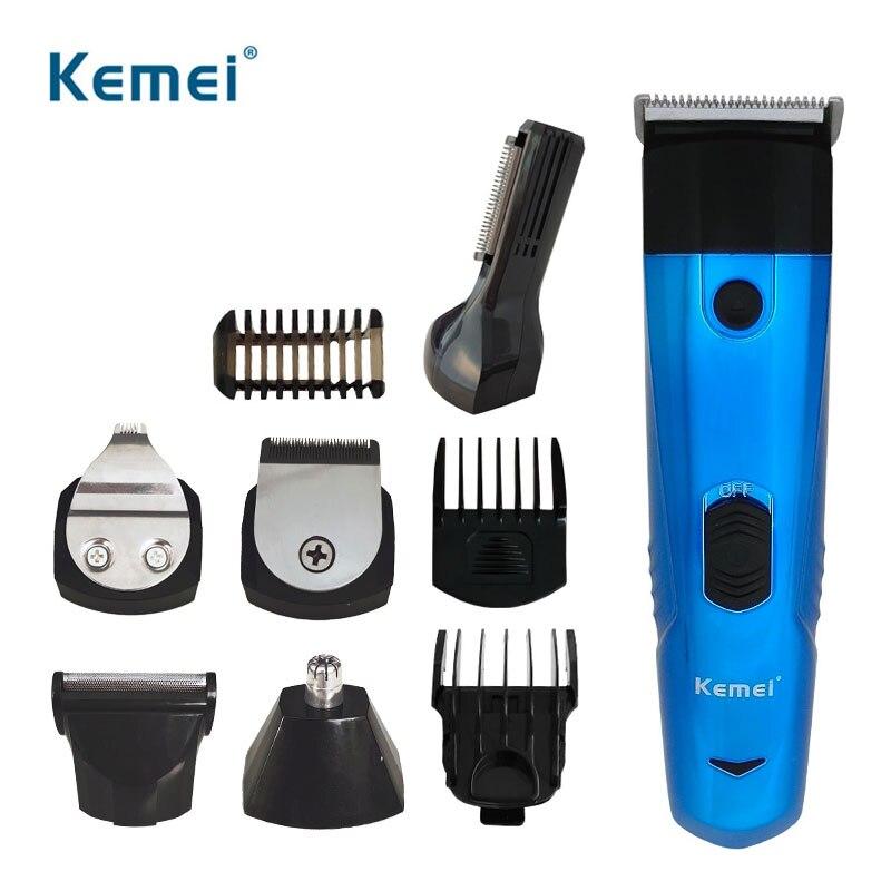 Kemei tondeuse à cheveux électrique tondeuse à cheveux professionnelle pour hommes Rechargeable 6 en 1 Machine de coupe de cheveux avec peignes limites 35D
