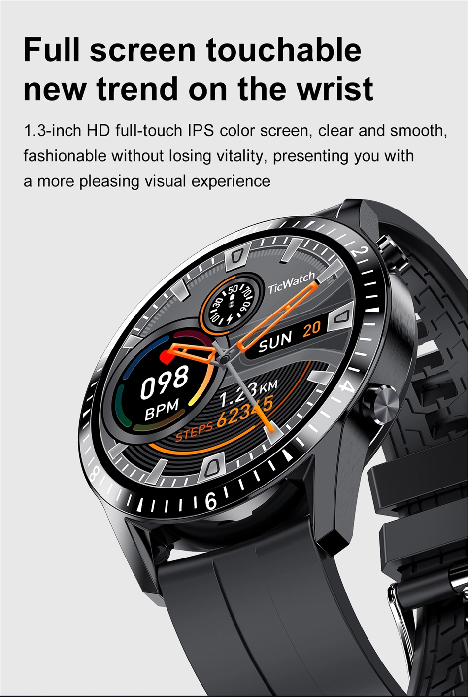 H5226daccd75a4b4ca689f8a8bbab1ba17 2021 Smart Watch Phone Full Touch Screen Sport Fitness Watch IP68 Waterproof Bluetooth Connection For Android ios smartwatch Men