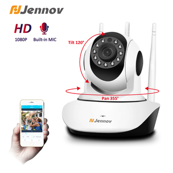 Jennov 1080P IP Camera HD indoor Infrared Night Vision Security Wifi Camera Two Way Audio Talking Wireless Video Surveillance hd camera 3 antenna wifi ir cut night vision two way audio p2p video surveillance security camera wireless ip camera