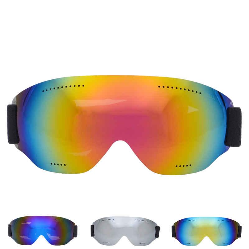 2019 Men Monolayer Ski Glasses UV400 Anti-fog Ski Goggles Snow Skiing Snowboard Goggles Riding Eyewear Windproof Cycling Glasses
