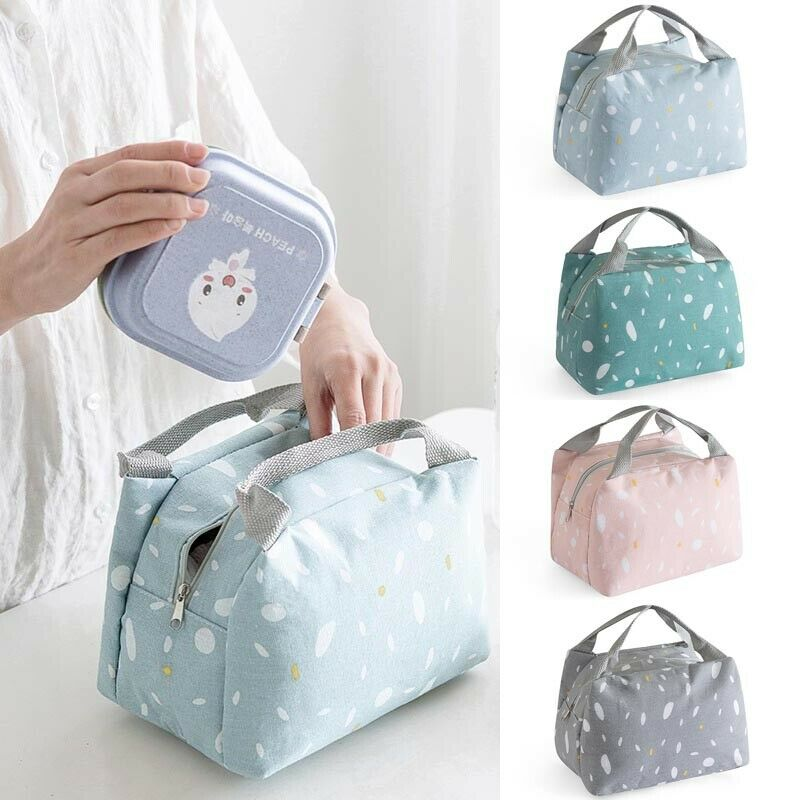 Big Insulated Lunch Bag For Women Men Thermal Cooler Lunch Box Picnic Storage /BY