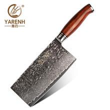 Yarenh 7 дюймов дамасский нож для китайский Стиль шеф повара