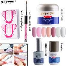 YAYOGE – Kit de gel constructeur LED UV pour Nail Art, vernis pour ongles en acrylique, accessoires pour extensions d'ongles, 7 couleurs, 56 ml,