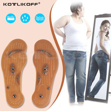 Magnetic Massage Insoles for Slimming body Health Foot Shoe Relaxation Gifts For Women Mat Pad Acupuncture Massaging Insole Sole(China)
