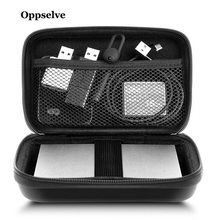 Oppselve External Storage Hard Case HDD SSD Bag For Hard Drive Power Bank USB Cable Charger Power Ba