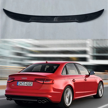 CS Style Carbon Fiber Rear Spoiler Wing Fit For Audi S4 B8 B8.5 4Door 2009 - 2016 (Not for A4)