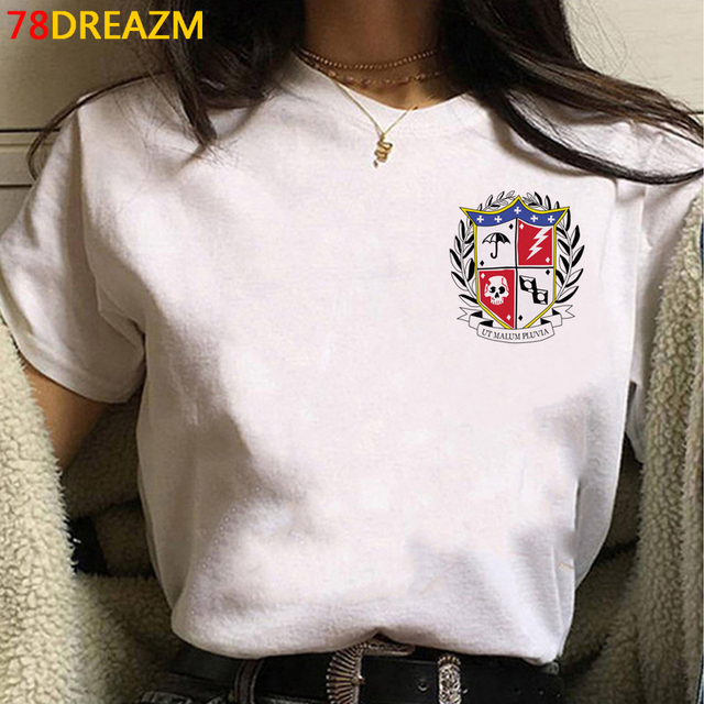 the Umbrella Academy tshirt top tees femme streetwear harajuku kawaii print plus size t shirt clothes harajuku white t shirt 5