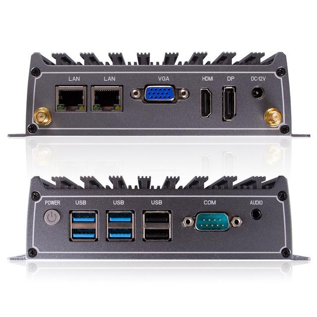 Intel Core i5 4200U i7 4500U Mini PC fanless industrial Desktop Computer with Windows 10 or Linux thin client HTPC 4