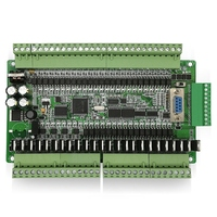 PLC Industrial Control Board FX1N FX2N FX3U 48MT 6AD 2DA 24 Input 24 Transistor Output RS485 RTC CAN Extension with Shell