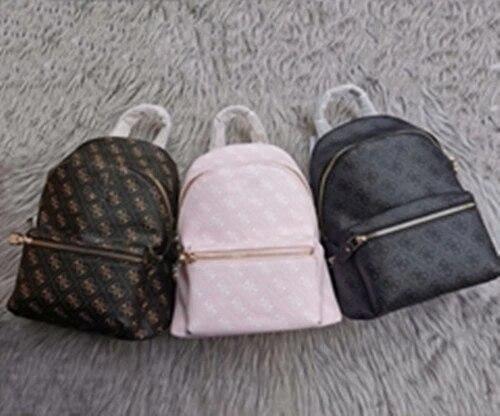Backpack Women Korean Style PU Leather Shoulder Bag For Teenage Girls Multi-Function Small Bagpack Female backpack