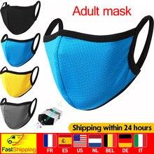 Máscara de boca preta reusável máscaras faciais para adulto unisex ao ar livre dustproof breathbale máscara lavável tecido mascarillas rosto